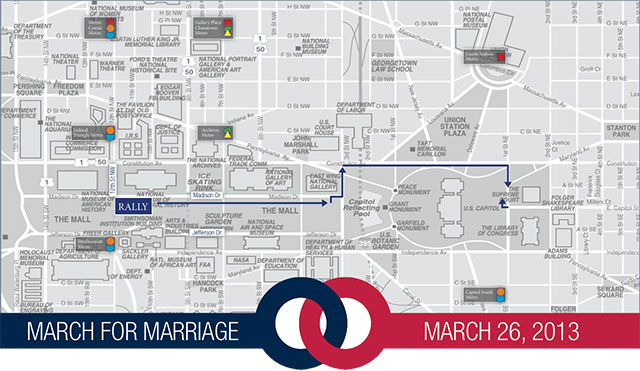 Marriage March Map